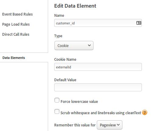 DTM data element