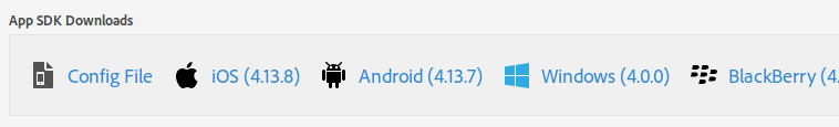 add an app to mobile services sdk downloads
