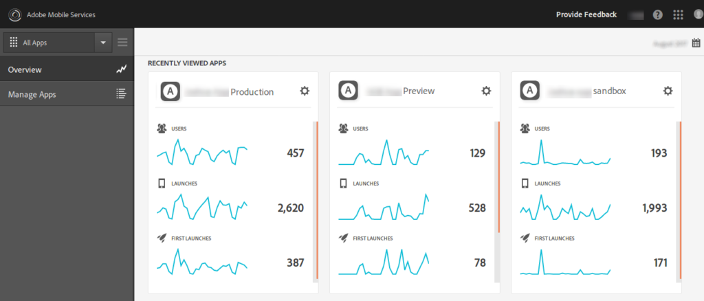 mobile services dashboard