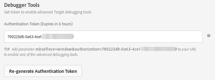 target authentication token