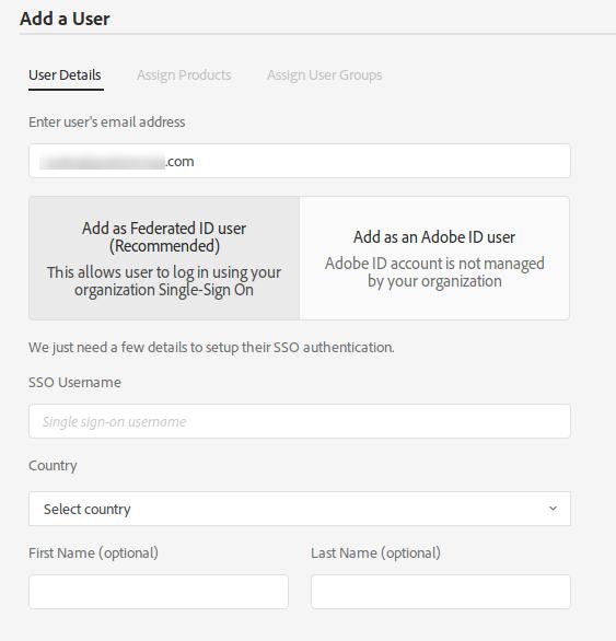 add user federated id
