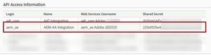 Analytics Web Services Users